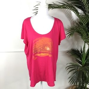 Life Is Good Pink Sunset Tee Womens XXL